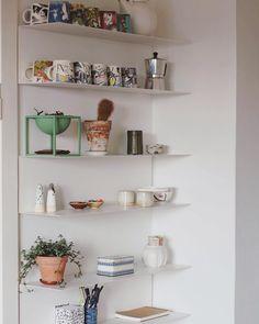 "Ikea ""Botkyrka"" wall shelves Ikea Studio Apartment, Studio Apartments, Apartment Ideas, Wall Shelves, Shelving, By Lassen, Moomin, Ikea Kitchen, Kitchen Accessories"