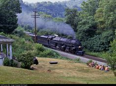 RailPictures.Net Photo: NW 1218 Norfolk & Western Steam 2-6-6-4 at Eggleston, Virginia by Sid Vaught