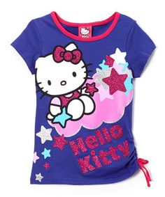 This Purple & Pink Clour Hello Kitty Tee - Girls by Hello Kitty is perfect! #zulilyfinds