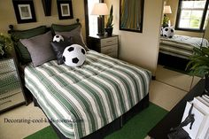 soccer bedrooms | The soccer bedroom theme is a fun and easy room to create. With just ...