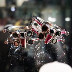 Geek Jewelry, Sci-Fi Jewelry, Fantasy Jewelry, Steampunk Jewelry, Jewelry to match your mood and your Bijoux Star Wars, Star Wars Jewelry, Geek Jewelry, Jewelry Design, Unique Jewelry, Star Wars Ring, Star Wars Schmuck, Orange Sapphire, Black Rhodium