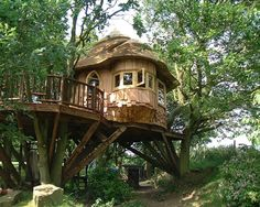 From simple tree house plans for kids to the big ones for adult that you can live in. If you're looking for tree house design ideas. Find and save ideas about Tree house designs. See more ideas about Tree house homes, Amazing tree house and Treehouse ideaS, Treehouse kids, Backyard treehouse and Tree house designs. #treehouseplans #treehousedesign #WoodworkingProject #HomeDecorIdeas #HouseIdeas
