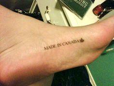 Made in Canada #tattoo #canada