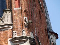 Wasserspeier an Backsteinkirche in Brügge, Belgien