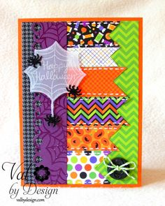 Heebie Jeebies Lawn Fawn stamp set, and Halloween Parade papers from Doodlebug - ValByDesign