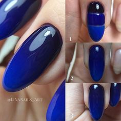 blue ombre nail art step by step Best Acrylic Nails, Summer Acrylic Nails, Gel Nail Art, Acrylic Nail Designs, Nail Art Designs, Diy Nails, Manicure, Blue Ombre Nails, Nail Tutorials