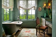 Casas de banho vintage ~ Decoração e Ideias - casa e jardim