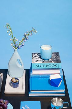 Spotted: our Ezra in blue with succulent on Refinery29 || Coffee Table Decor - Tabletop Style Inspiration