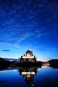 Putra Mosque at dawn, #Putrajaya, #Malaysia