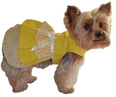 Dog Clothes Sewing Pattern 1628 Ruffle Dog Dress for the Little Dog in Two Styles