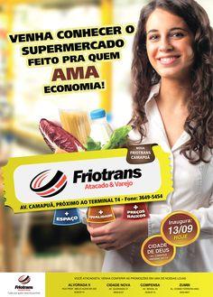 Peça campanha inauguração da Friotrans.