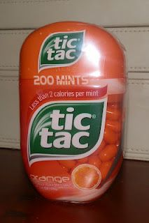 Orange Tic Tacs - Jumbo pack. These are my favorite Tic Tacs ever