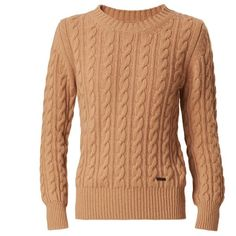 Burberry Cable Knit Wool Cashmere Sweater ❤ liked on Polyvore featuring tops, sweaters, burberry, shirts, sweatshirts, wool cable sweater, burberry shirts, woolen sweater, wool cashmere sweater and wool cable knit sweater