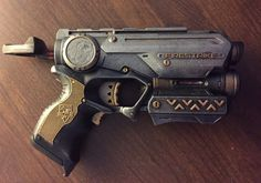 Steampunk Nerf Firestrike Handpainted by TheWishingChairAttic