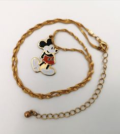Mickey Mouse Vintage Metal Pendant Necklace Walt Disney Productions Cloisonne Style NEW old stock by VintageToysForAll on Etsy Adult Disney Costumes, Frozen Costume Adult, Couple Halloween Costumes For Adults, Couple Costumes, Woman Costumes, Kids Jewelry, Unique Jewelry, Black Swan Costume, Mickey Mouse Costume