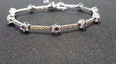 Gregg Ruth signed Diamond, Sapphire and Ruby 18-K Bracelet - http://designerjewelrygalleria.com/gregg-ruth/gregg-ruth-signed-diamond-sapphire-and-ruby-18-k-bracelet-3/