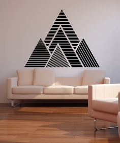 Geometric Mountains Vinyl Wall Decal Sticker This geometric mountain wall decal features a simple peel and stick application. Order a mountain vinyl wall decal for your home or office today. Home Wall Decor, Room Decor, Washi Tape Wall, Smart Tiles, Tape Art, Tape Wall Art, Vinyl Wall Stickers, Wall Vinyl, Decals For Walls