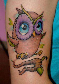 Beautiful Owl Tattoo (30)