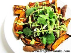 Vegan Loaded Chili Yam Fries