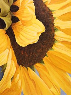 Sun Angel Sunflower Painting.  Lexi Sundell.       Acrylic