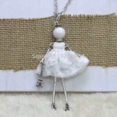 Find More Pendant Necklaces Information about Fashion Necklace for Women 2015! Doll Necklace Cute Lady Women Jewelry Female Wholesal Pendant Free Shipping Accessory NS020,High Quality jewelry counter,China jewelry making supplies pendants Suppliers, Cheap pendant aquamarine from Elaine Shop on Aliexpress.com