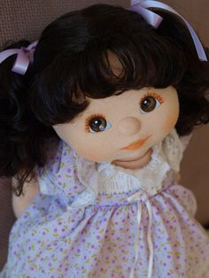 My Child Doll --- brunette girl with pigtails