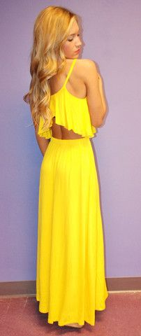 Summer Fling Maxi Yellow   Impressions