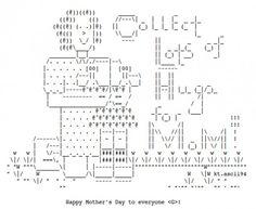 Mother's Day ASCII art