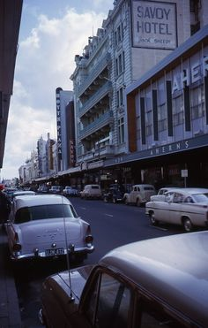 Hay Street, This is now a pedestrian mall. Perth Western Australia, Australia Travel, Australian Architecture, Pedestrian, Back In The Day, Roads, Old Photos, Color Inspiration, Paths