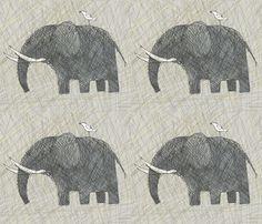 AMBOSELI KENYA elephants fabric by bzbdesigner on Spoonflower - custom fabric