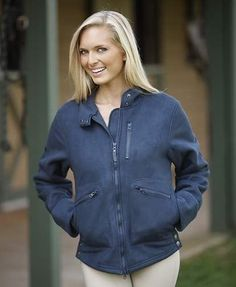 Cavalero Ladies Fleece Lined Stable Jacket - Navy- Size Small - Free Shipping #MoxieEquestrian