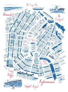 Image result for map of amsterdam for illustrators