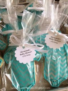 Baby Boy Baby Shower cookies by Pink Little Cake