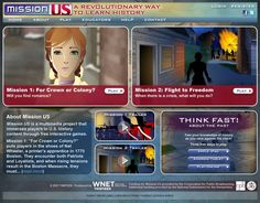 Mission US is a multimedia project that immerses players in U.S. history content through free interactive games.