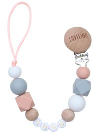 Speenkoord met naam   Lovelinn Pearl Necklace, Beaded Necklace, Teething Necklace, Grey And White, Pearls, Jewelry, Names, String Of Pearls, Schmuck