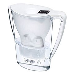 BWT Designer Water Filter Pitcher, German Quality, Newest Technology For Superior Filtration and Taste (Arctic White)