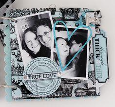 Teresa Collins Design Mini Album.  love the wonderful blue and black combo!!!