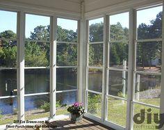 4 track Eze-Breeze® screen porch windows on 3 season room