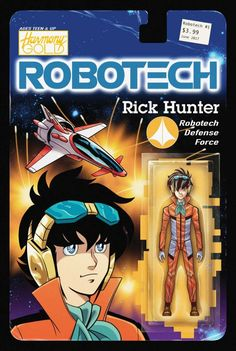 Rick Hunter And Lynn Minmei Action Figure Variant Covers For Robotech Comic From Titan By Blair Shedd