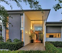 Modern House with interesting entrance.