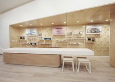 LA-based studio West of West has used white surfaces and plywood finishes in a new Garrett Leight eyewear store in San Francisco to reinforce the brand's Californian identity.
