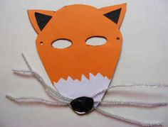 "foX mask/paper plate craft. Goes well with ""The Gingerbread Man"" if you want to have kids act out the story."