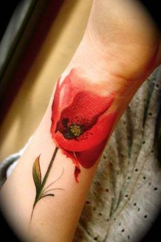 poppy tattoo-watercolor