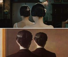 The Handmaiden, 2016, dir. Park Chan-wook       La reproduction interdite (Not to Be Reproduced), 1937, by René Magritte