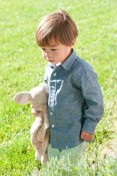 Charlie Chambray Shirt. I think his lovey really makes this photo though! So cute