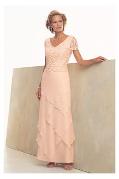 Ankle-length Short Sleeves Charming Dresses, Quality Unique Mother of the Bride Dresses - Dressale.com