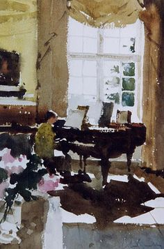 John Yardley (b. 1933, UK) watercolour.