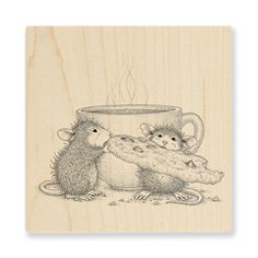 Sail Cup Stampendous House Mouse Wood Stamp