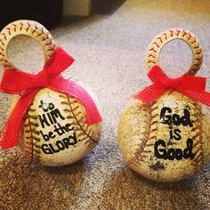 Baseball Ornaments LOVE!!!