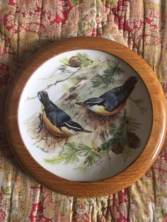 Nuthatch bird plate from my Etsy shop https://www.etsy.com/uk/listing/536772900/wwf-songbirds-of-europe-by-ursula-band
